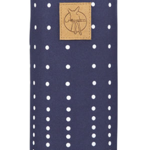 Casual Bottle Holder Single Dotted lines navy